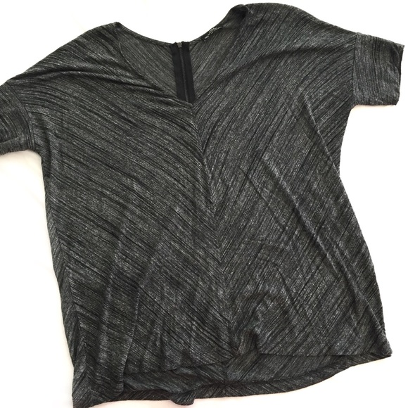 Zara Tops - Zara back zip grey black dolman top